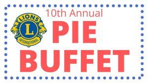Lion's Club Pie Buffet